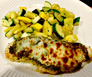 Pesto Chicken with Italian Vegetables